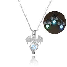 Necklaces Pendants Australia - 2018 New Wholesale Fashion Luminous necklace night luminous dragon diy pendant For Women Gift