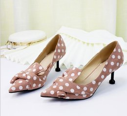$enCountryForm.capitalKeyWord NZ - New 2019 spring summer 6cm Butterfly-Knot Heels Pumps Female Ladies Elegant Wedding Shoes Party Shoes