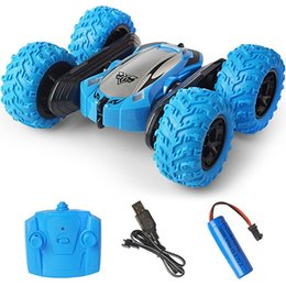 puzzle interactive Australia - Classic stunt double-sided tumbling car children's toy car remote control car 45 ° climbing off-road vehicle parent-child interactive puzzle