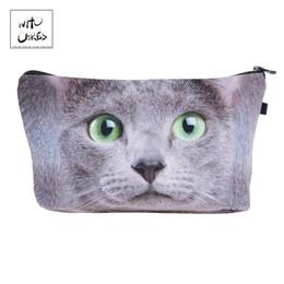 Quem Se Importa moda Impressão gato Olho Verde Sacos De Maquiagem Cosméticos Organizador Saco de Senhoras Bolsa Mulheres Saco Cosmético # 171645