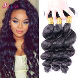 $enCountryForm.capitalKeyWord NZ - 8a Brazilian Loose Wave Virgin Hair Extensions 3 or 4 Bundles Brazilian Human Hair Weaves Double Weft Loose Wave Bundles