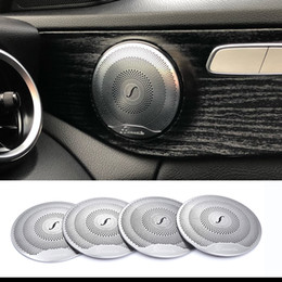 $enCountryForm.capitalKeyWord NZ - 2019 4pcs For Mercedes Benz Car Audio Speaker Car Door Loudspeaker Trim Cover 2015-2018 C Class W205 GLC 2016-2018 E-Class Stainless steel