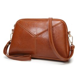 stone coating NZ - VELALISCIO Vintage Messenger Bags for Women Party Clutches Days Leather PU Coating Ladies Small Shouler Bag High Quality Bag T191010