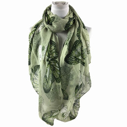 cotton scarves stoles Australia - Butterfly Printing Scarves Women Long Soft Cotton Linen Scarf Paris Yarn Scarf Female Wrap Shawl Stole High Quality Autumn