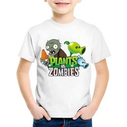fb95bc40 Zombie tee shirts online shopping - Children Cartoon Print Plants Vs Zombies  Funny Game T shirt