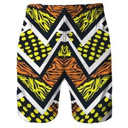 Men's Clothing Radient 2018 Men Casual 3d Graffiti Printed Beach Pants Work Men Short Trouser Colorful Shorts Pants Straight Loose