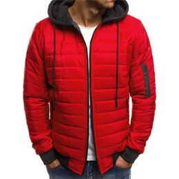 fake products 2019 - New Mens parkas European American Cotton-padded Trade Products Fashion Warm Thick clothes Fake Two Jackets top coat drop