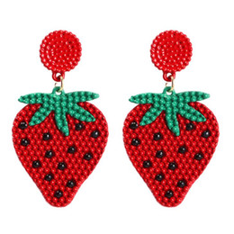 $enCountryForm.capitalKeyWord Australia - New Strawberry Banana and Fruit Earrings for Japanese and Korean Xiaoqing New Spring and Summer free shipping