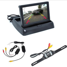 Wholesale New Car Rear View Camera Set quot TFT LCD Monitor Wireless Transmitter Receiver Backup Reverse Camera Parking System Night Vision