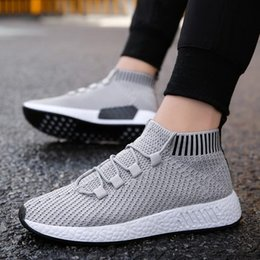 south korean shoes NZ - Men's and south Korean versions of fashion trend wear all-purpose black mesh socks and shoes f4