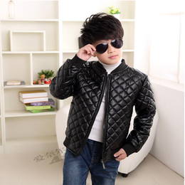 $enCountryForm.capitalKeyWord Canada - 2018 New Boys Coats Faux Leather Jackets Children Fashion Spring And Autumn Outerwear PU Light And Thin Zipper Motorcycle Jacket