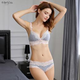 Style Strap bra online shopping - Thin Japanese Lace Lingerie Seamless Set Deep V Sexy Bra Set Brief Women Set Lolita Style Take Wire Free One Size Bigger