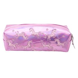 Chinese  Fashion Kawaii Style Colorful Unicorn Cosmetic Bags Gift Girls Portable Zipper Travel Necessary Makeup Organizer Storage Bags manufacturers