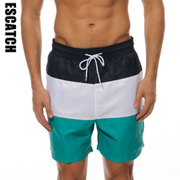 mens xxl swim trunks NZ - Escatch New Quick dry Summer Mens Board Shorts Mens Siwmwear Swim Shorts Beach Wear Briefs For Men Swim Trunks XXL