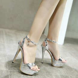 $enCountryForm.capitalKeyWord Australia - New Sandale Summer Platform Diamond Womens Sandals Shoes Female Sexy Ultra High Heels 14CM Ladies Shoe 2019 Model Catwalk Shoe