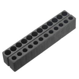 Black Blocks Australia - 10pcs 12-Hole Screwdriver Bit Holder Box Block Black For Six Angle 6.35mm