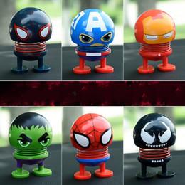 $enCountryForm.capitalKeyWord Australia - Avengers Shaking Head Dolls Fit Car Decoration ABS Iron Man Incredible Hulk Cartoon Emoji Spring Toy Kids Travel Souvenir 4 8ak E1
