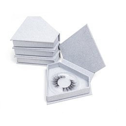 Discount silk strips - 20pcs Sliver Shiny Box Diamond Box Without False Eyelash Strip 24 Shiny Round Box no Silk Lash 3D Mink Eyelashes Beauty