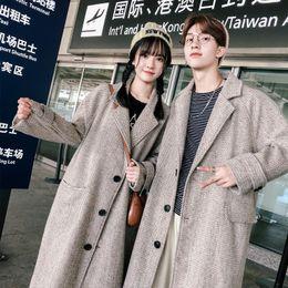 $enCountryForm.capitalKeyWord NZ - Sobretudo Masculino Jacket, Medium And Long Style Korean Version 2018 New Student Loose Overcoat Couples Wear Knee Tweed Men
