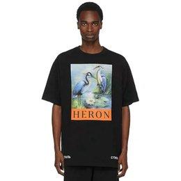 Sh Fashion UK - New York Fashion tshirts High Quality Chinese Style shirt Heron Preston Men Women Street Luxury Cotton Hoody Casual Sleeved T-Shirt free sh