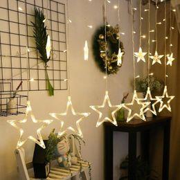 $enCountryForm.capitalKeyWord UK - 4m Christmas Led Lights Ac 220v Romantic Fairy Star Led Curtain String Lighting For Holiday Wedding Garland Party Decoration
