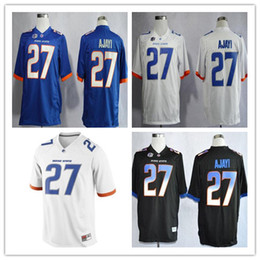 d025965a044 Boise State Broncos #27 Jay Ajayi College Football Jersey black white blue  NCAA stitched Jersey S-3XL