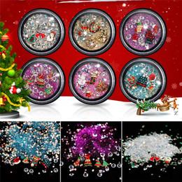 Christmas Gift Nails Australia - NEW 1 Box 3D Christmas Snowflake Snowman Nail Art Decoration Alloy Ornament In Wheel Shoes Cap Pendant For Gift Nail Decoration