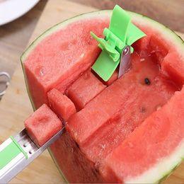$enCountryForm.capitalKeyWord Australia - Windmill watermelon cut artifact stainless steel fancy split cutter watermelon cut