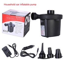 Jets bedding online shopping - Electric Air Pump Automatic Quick Pumping with Jets for Air Mattress Inflatable Boat Beds YAN88