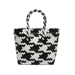 knitting tote bags wholesale NZ - Beach Bags Shopping Basket Striped Hand Knitted Handbag Totes Ladies Totes Crossbody Bags Casual Sac A Main Femme
