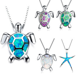 $enCountryForm.capitalKeyWord Australia - unique New Cute Turtle Animal Pendant Necklace K Gold Plated Crystal Starfish Charm Tortoise Pendant with chain For Women Lucky Jewelry
