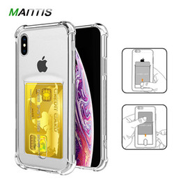 Transparent Cards Australia - or iPhone X XS Max XR Credit Card Holder Transparent Shockproof Phone Case Soft TPU Cover for iPhone 6 6S 7 8 Plus