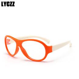 9984270d26 LYCZZ Retro TR90 Silicona niños lindos Gafas Ópticas marco niños miopía  anteojos niños niñas marco de gafas transparentes suave suave