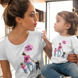$enCountryForm.capitalKeyWord Australia - Female T-shirt Famliy Matching Clothes Girl Costume Mom And Summer New Short-sleeve Kids Boys Tops Tees Baby Outfit