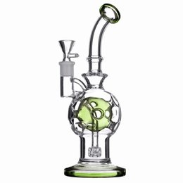 $enCountryForm.capitalKeyWord NZ - 10 inch bong fab egg glass water pipe showerhead perc recycler dab rig oil rig bubbler with 14mm bowl and banger