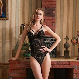 porno dolls NZ - Sexy Lingerie Underwear Catsuit Lace Spandex Bodysuit Porno Slutty Transparent Baby Doll Nightwear Plus Size Y200401