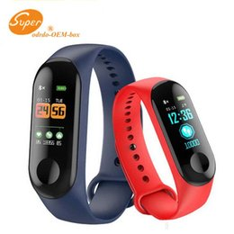smartphone smart watch android NZ - M3 Smart Wristband Sport Bracelet Fitness Tracker Heart Rate Watchband Smart Watch For Android Cellphones smartphone with Box pk ID115