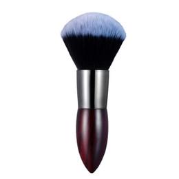 Wholesale Compact Brushes UK - 1 Piece Luxuriously Dense Loose   Compact Powder Brush Blush Makeup Brushes Buffing Contouring Blending Brush Super Quality