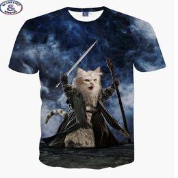 $enCountryForm.capitalKeyWord Australia - Mr.1991 New Youth Fashion 3d Cool Fighting Cat Cartoon T-shirt For Boys Or Girls 3d T Shirt Big Kids 12-20 Years T Shirt A11 Y19051003