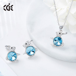 Blue Pearls Jewelry Set NZ - Wedding Party silver S925 beaded pearl gift woman lady diamond jewelry sets for bride acting initiation graduation CDE-529