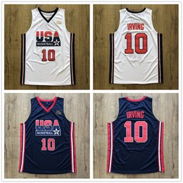 e7cf10d9ebb 1992 Dream Team USA Kyrie Irving  10 Retro Basketball Jersey Men s Stitched  Custom Any Number Name Jerseys