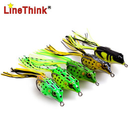 floating frog lures Australia - 5PCS LOT 5 Different Color 3D Floating Skirt Frog Fishing Lure Double Hook 6.2g 4.5cm Free Shipping