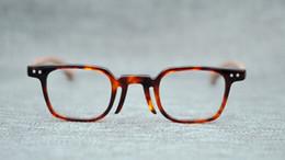 Small wooden frameS online shopping - Belight Optical Men Italy Acetate Small Square Retro Vintage Prescription Eyeglasses Optical Spectacle Frame Eyewear