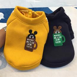 wholesale stylish jackets 2019 - ISHOWTIENDA pet Cloth Jacket Polyester Autumn Winter Stylish Round Neck Shirt Cute Jumpsuit For Four-legged Dog Hot Sell