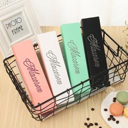 $enCountryForm.capitalKeyWord Australia - 2019 Macaron Box Cake Boxes Home Made Macaron Chocolate Boxes Biscuit Muffin Box Retail Paper Packaging 20.3*5.3*5.3cm Black Pink Green