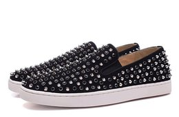 red hot roller UK - Hot Red Bottom Sneakers Casual Shoes Womens Low Silver Designer Full Spikes Roller Boat Flats Skateboard Loafers Design Man Woman Shoe L29