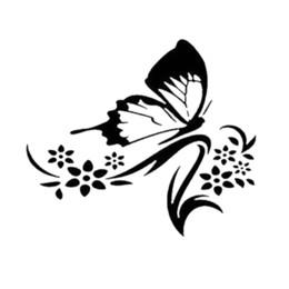 $enCountryForm.capitalKeyWord Australia - Butterfly Flower Funny Car Bumper Sticker Vinyl Decal Graphic Laptop Car Window Bumper Novelty JDM Drift Vinyl Decal Sticker