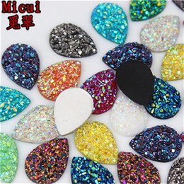 pear drop crystal NZ - 100Pcs 13*18mm AB Color Drop Resin Rhinestones pear shape Flatback Beads Resin Crystal Stones Jewelry crafts Scrapbook ZZ29
