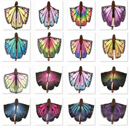 Wholesale halloween fairy costume women for sale – halloween Halloween Costumes Butterfly Wings Shawl Women Fairy Decorative Accessories Wrap Printing Shawl Scarves Scarves Party Supplies XD22157