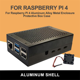 usb case fans Australia - Aluminum Alloy Casing For Raspberry Pi 4 Metal Enclosure Protective Box Case Hollow Design With Cooling Fan Protect Motherboard